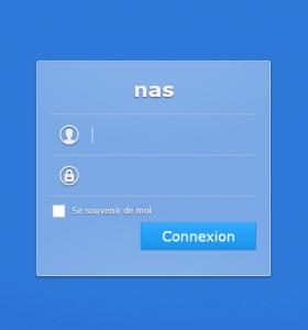 Authentifiez vous pour accéder au NAS