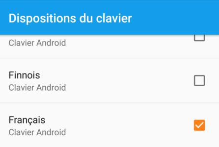 Choix de la langue française