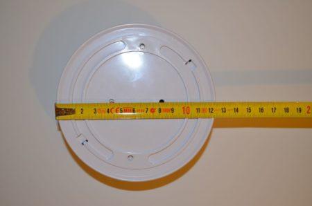 Dimension du détecteur : 12,5 cm de diamètre