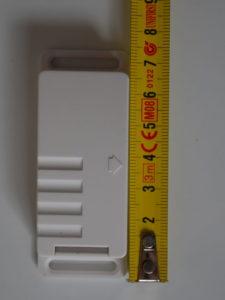 Le capteur mesure 7,4 cm de hauteur
