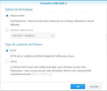 Étape 03 : Formater le disque dur