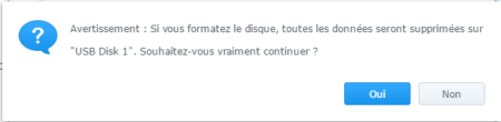 Étape 04 : Confirmer l'opération de formatage du disque dur