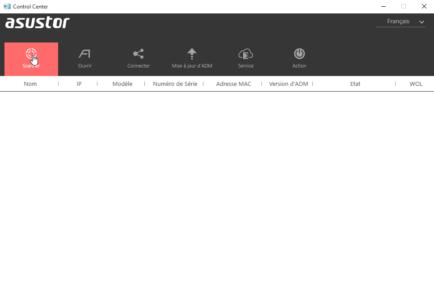 Cliquez sur Scanner pour trouver votre NAS sur le réseau