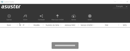 L'application explore maintenant votre réseau à la recherche de votre NAS