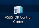 Le raccourci de l'application Control Center