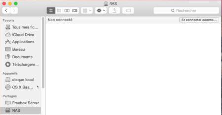 Cliquez sur le nom de votre NAS dans la partie gauche du Finder