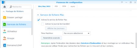 Étape 04 : activez le service de fichiers Mac