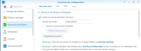 Étape 03 : activez le service de fichiers Windows