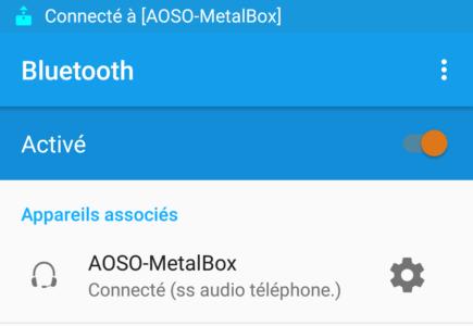 Vous la trouverez sur votre smartphone sous le nom AOSO-MetalBox