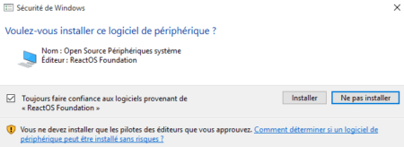 Si Windows vous demande d'installer ce périphérique, cliquez sur Installer