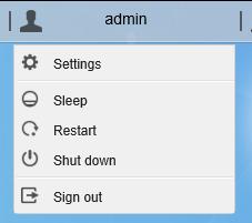 Étape 3 : cliquez sur admin pour faire apparaître le menu utilisateur