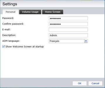Étape 4 : régler le paramètre ADM Language sur Français