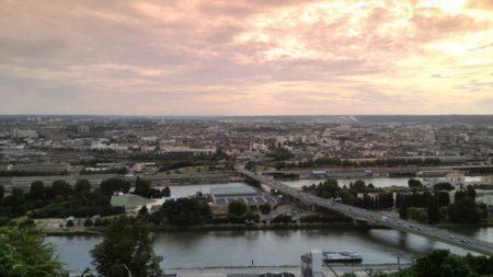 Photo prise depuis le panorama Sainte Catherine avec le ZenFone2 et le filtre dégradé orange