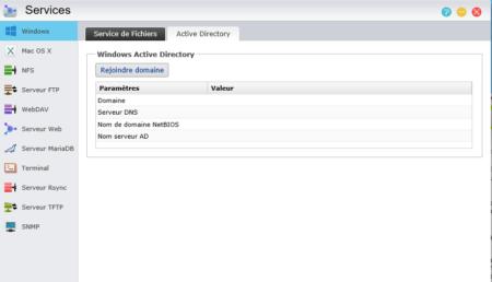 Si vous avez un domaine Windows, vous pouvez rejoindre ce domaine