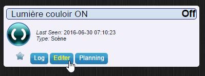 Étape 03 : Cliquez sur le bouton Editer pour définir votre scénario