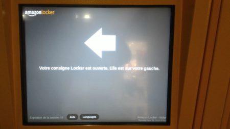 Étape 3 : l'automate vous indique où se trouve votre colis