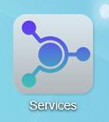 Cliquez en premier lieu sur l'icône Services présente sur le bureau
