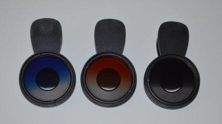 Kit de 3 filtres dégradés (orange, bleu et noir)