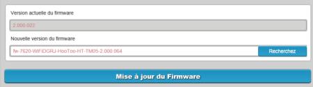 Cliquez sur Mise à jour du Firmware