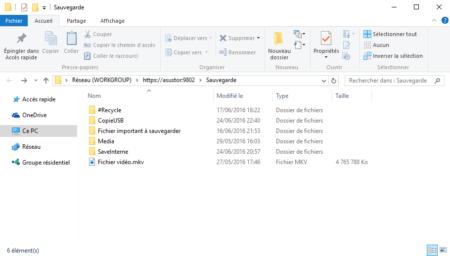 Le partage WebDAV du Nas Asustor est maintenant visible dans l'explorateur Windows