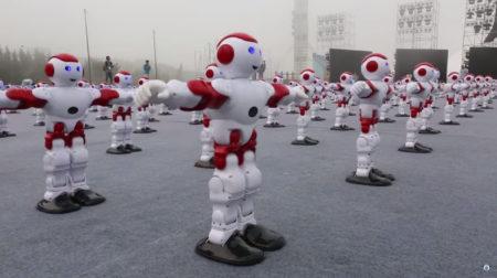 Plus de 1 000 robots établissent un nouveau record