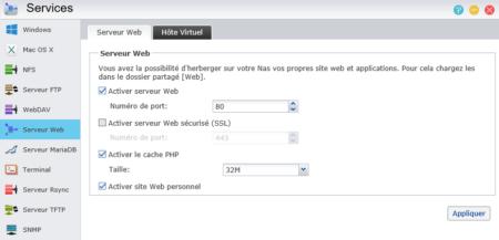 Vous pouvez activer le cache PHP et le site web personnel pour chaque utilisateur