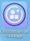 Cliquez en premier lieu sur l'icône Gestionnaire de Stockage présente sur le bureau