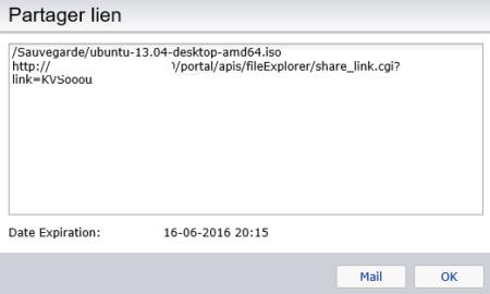 Vous pouvez envoyer le lien directement par mail à partir d'ici