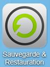 Cliquez en premier lieu sur l'icône Sauvegarde et Restauration présente sur le bureau