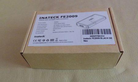 La boîte du boitier mSATA FE2009 d'Inateck