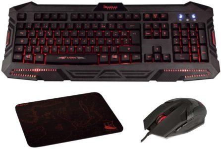 Pack gamer contenant clavier, souris et tapis de souris