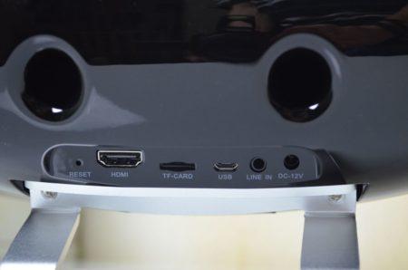 La connectique arrière de la tablette
