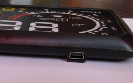 La prise mini-USB de l'afficheur
