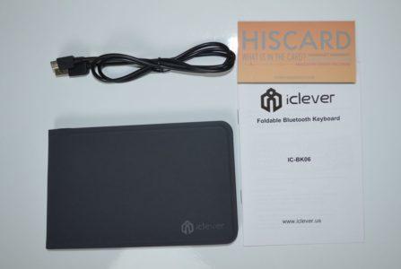 Dans la boîte : le clavier, un câble micro-USB/USB un manuel et une carte de garantie