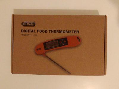 La boite du thermomètre de cuisine Dr Meter