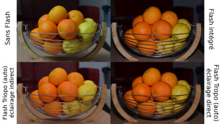 Différentes photos, avec et sans flash