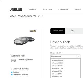 Le site d'Asus propose des pilotes pour Windows 10