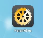 Cliquez sur l'icône Paramètres pour accéder à tous les paramètres