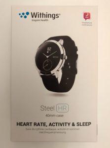 La boite de la montre connectée Withings Steel HR