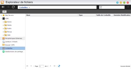La corbeille réseau est accessible via le navigateur de fichiers