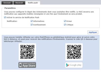 Vous pouvez également activer les notifications Push de l'application AiMaster