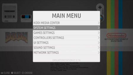 Appuyez sur Start pour ouvrir le menu et allez sur System Settings
