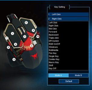 Chaque bouton est personnalisable
