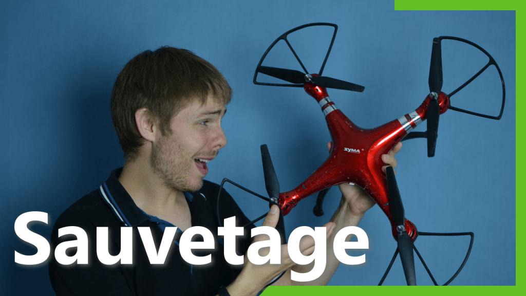 Sauvetage du drone Syma X8HG