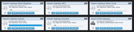 """Les différents modules de la Gateway apparaissent dans l'onglet """"Interrupteurs"""""""