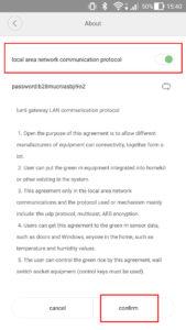 "Activer l'option ""local area network communication protocol"""
