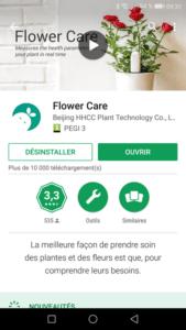 Flower Care est disponible sous Android et iOS