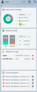 ADM 3 permet de créer des widgets pour récupérer facilement certaines informations