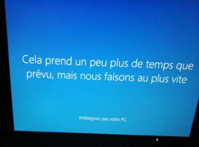 Windows 10 constate que les performances ne sont pas au rendez-vous avec l'AS6104T