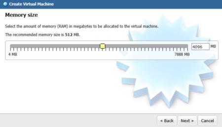 Définissez la quantité de mémoire vive à allouer à la machine virtuelle